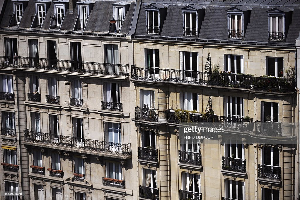 A picture taken on April 27, 2010 in Paris shows facades of buildings.