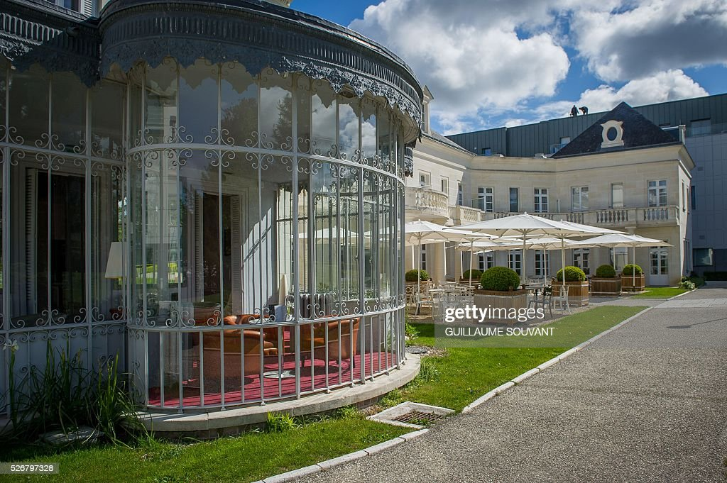 A picture taken on April 29, 2016 in Tours, central France, shows the Chateau de Belmont hotel, which will host the Czech national football team during the Euro 2016 football championships. / AFP / GUILLAUME
