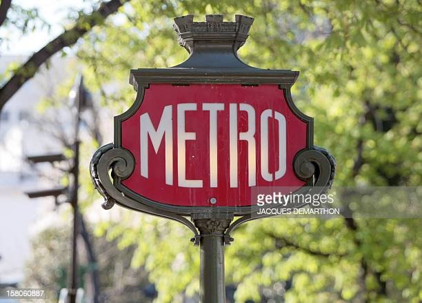 Picture taken on April 30 2009 of a Paris Metro sign AFP PHOTO / JACQUES DEMARTHON
