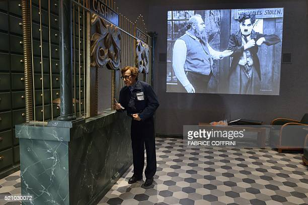 A picture taken on April 6 2016 shows a room of the Chaplin's World museum in CorsiersurVevey western Switzerland Imagine sliding along the cogs...