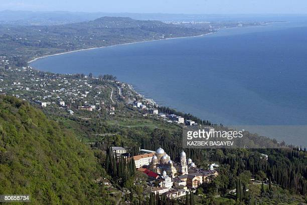 Picture taken on April 8 2008 shows Abkhazia's Black Sea coast outside Sukhumi Two Russianbacked separatist areas of exSoviet Georgia on April 13...