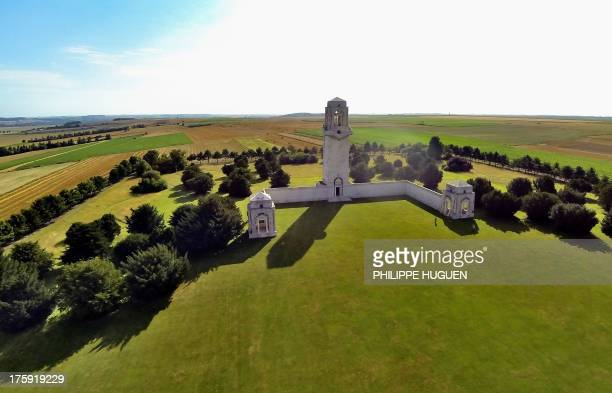 A picture taken on August 10 2013 in VillersBretonneux shows the World War I Memorial near the Australian military cemetery AFP PHOTO PHILIPPE HUGUEN