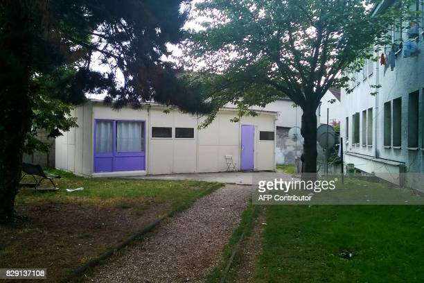 A picture taken on August 10 shows a prayer house which Hamou B the suspect of a car attack against French soldiers attended in Sartrouville west of...