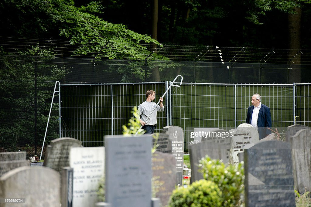 A picture taken on August 15, 2013 shows preparations of Dutch Prince Friso's burial at the cemetery in Lage Vuursche, about 30 kilometres (20 miles) southeast of Amsterdam. Prince Friso is to be buried near his mother's castle on August 16, 2013, days after he died from injuries sustained in a 2012 skiing accident, the palace said. King Willem-Alexander's brother Friso died on August 12, 2013, aged 44, around 18 months after after he was left brain-damaged and comatose by an avalanche while skiing in Austria.