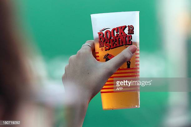 A picture taken on August 24 2012 shows a cup during the RockenSeine music festival in SaintCloud near Paris AFP PHOTO / THOMAS SAMSON