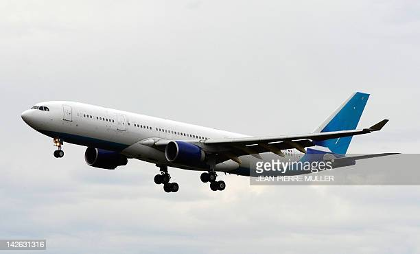 A picture taken on August 26 2010 at the Merignac airport outside Bordeaux southwestern France shows the Airbus A330 which is to become French...