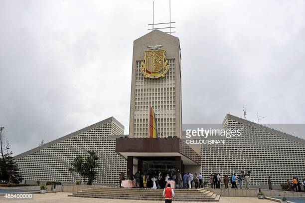 A picture taken on August 27 2015 show Guinea's presidential palace in Conakry AFP PHOTO / CELLOU BINANI