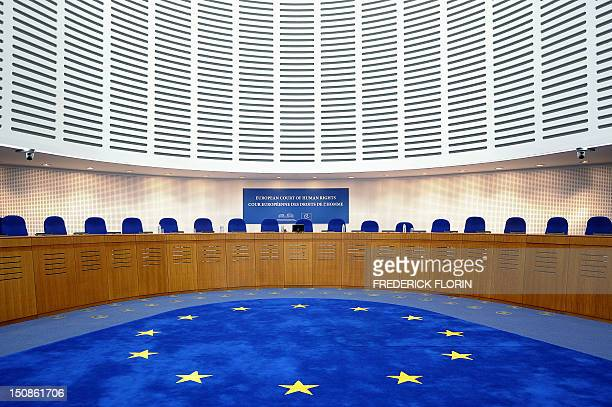A Picture taken on August 28 2012 shows a general view of the European Court of Human Rights in Strasbourg eastern France AFP PHOTO/FREDERICK FLORIN