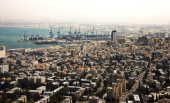 A picture taken on August 29 shows a general view of the skyline of the Israeli Mediterranean coastal city of Haifa Israeli President Shimon Peres...
