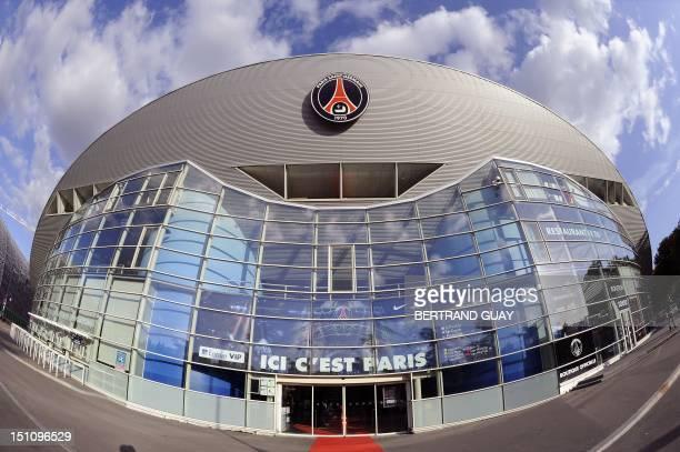 A picture taken on August 31 2012 shows the Parc des Princes stadium's main entrance in Paris which houses Paris SaintGermain L1 football club AFP...