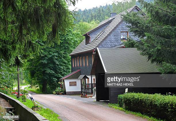 Picture taken on August 8 2014 shows the Gimmlitztal pension in Reichenau eastern Germany where a German police officer allegedly killed a volunteer...