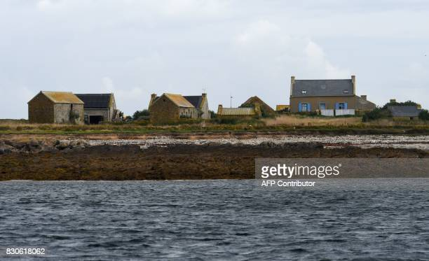 A picture taken on August 9 2917 shows a view of the island of Quemenes in Le Conquet western France A family rehabilated a breeding and ecological...