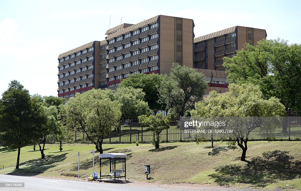 Picture taken on December 10, 2012 shows the One Military Hospital in Pretoria, where South Africa's former president Nelson Mandela is hospitalised. Ailing anti-apartheid icon Nelson Mandela was admitted to the hospital on December 8, 2012 to undergo tests and was said to be doing well. Mandela will remain in hospital for a third day tomorrow and receive further undisclosed tests, but was comfortable and in 'no immediate danger' the South African government said. Defence Minister Nosiviwe Mapisa-Nqakula visited Mandela earlier Monday at the country's leading military hospital in Pretoria and found the 94-year-old former president 'in good spirits.'