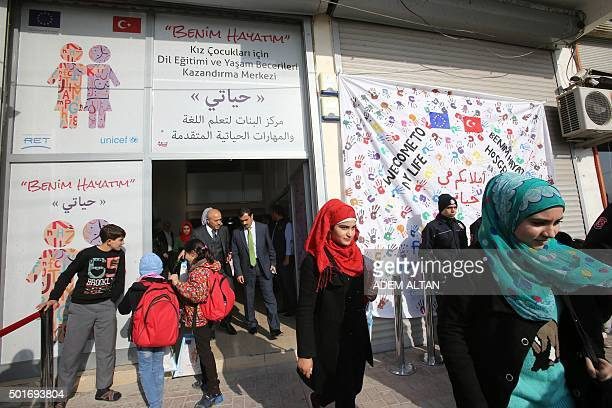 Picture taken on December 14 of the entrance of a school in the Sanliurfa province near the Syrian border Turkey is home to at least 22 million...