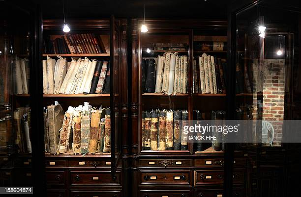 A picture taken on December 18 2012 shows archives in the Mellerio jewelry store in Paris Founded in 1613 French jewelry house Mellerio is the oldest...