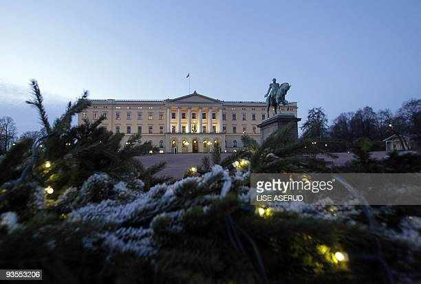 A picture taken on December 2 2009 of the Royal Palace in Oslo which is bracing itself for two major upcoming events first a visit by USpresident...