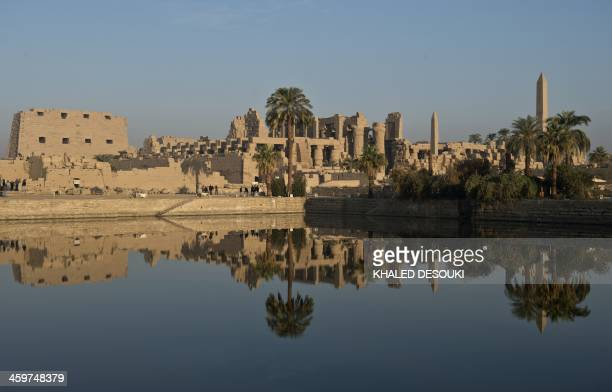 A picture taken on December 21 shows the Temple of Karnak in the southern Egyptian city of Luxor The 2011 revolution that toppled dictator Hosni...