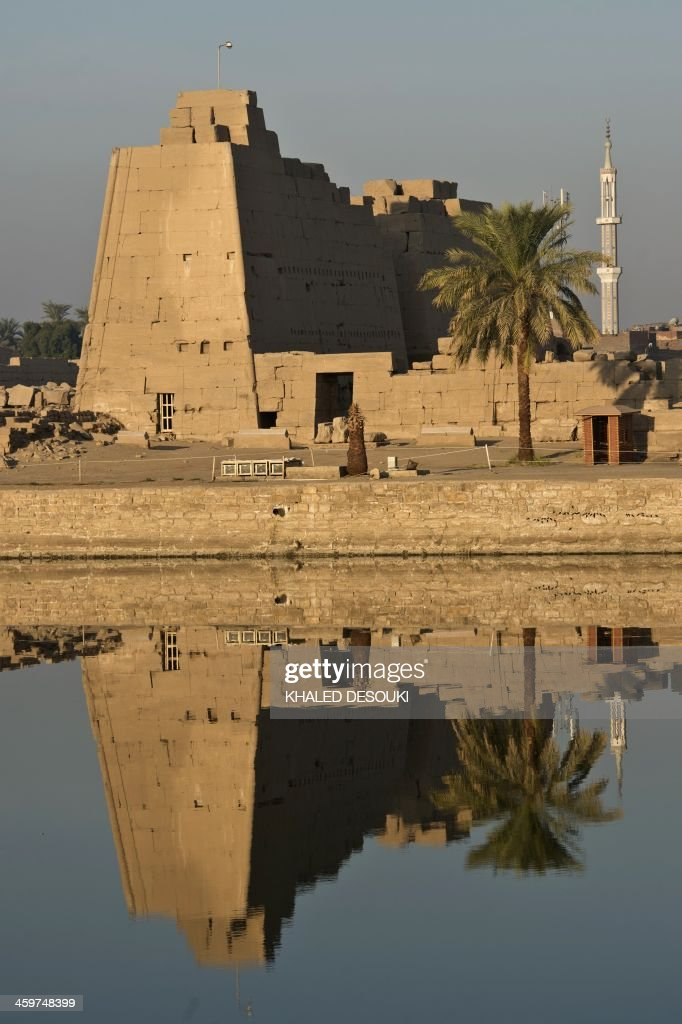 A picture taken on December 21, 2013, shows the Temple of Karnak, in the southern Egyptian city of Luxor. The 2011 revolution that toppled dictator Hosni Mubarak dealt a severe blow to the country's tourist industry, once a mainstay of Egypt's economy.