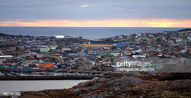 A picture taken on December 22 2014 shows a view of SaintPierre on the French northern Atlantic island of Saint Pierre and Miquelon AFP PHOTO /...