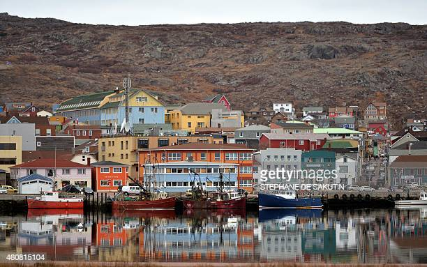 A picture taken on December 23 2014 shows a view of SaintPierre on the French northern Atlantic island of Saint Pierre and Miquelon AFP PHOTO /...