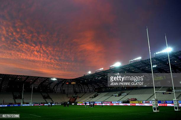 Picture taken on December 3 shows the Stade des Alpes prior to the French Top 14 rugby union match Grenoble vs Montpellier in Grenoble / AFP /...