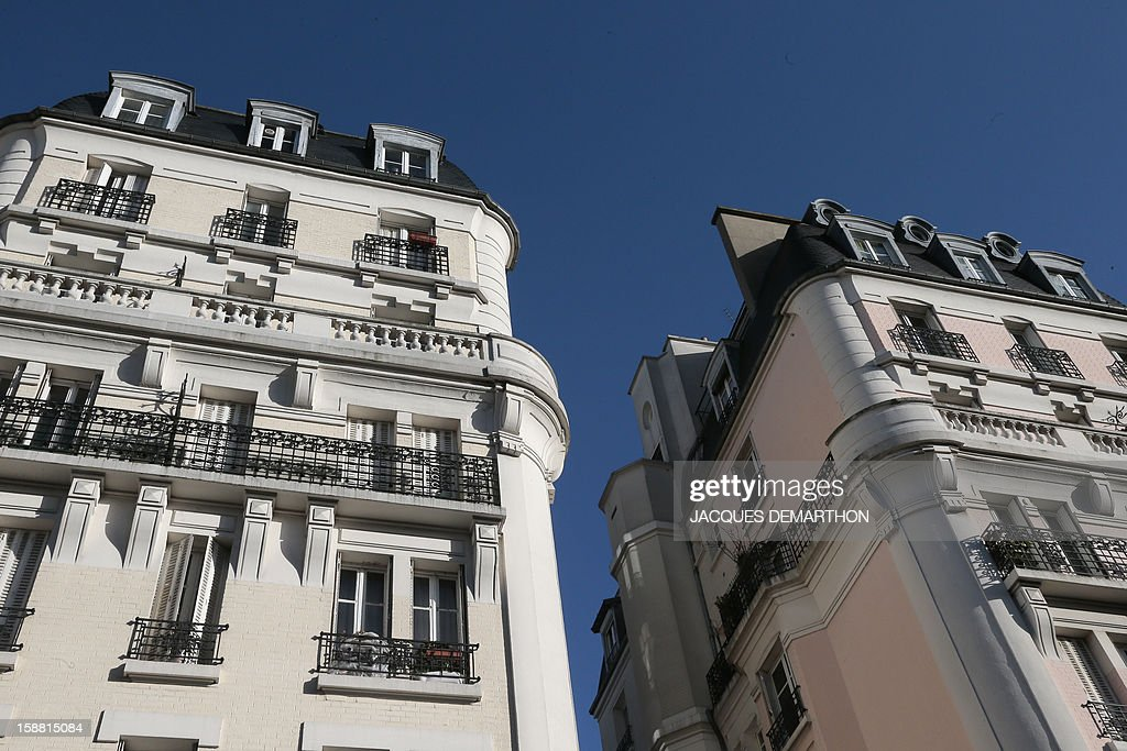 A picture taken on December 30, 2012 shows residential buildings in Paris.