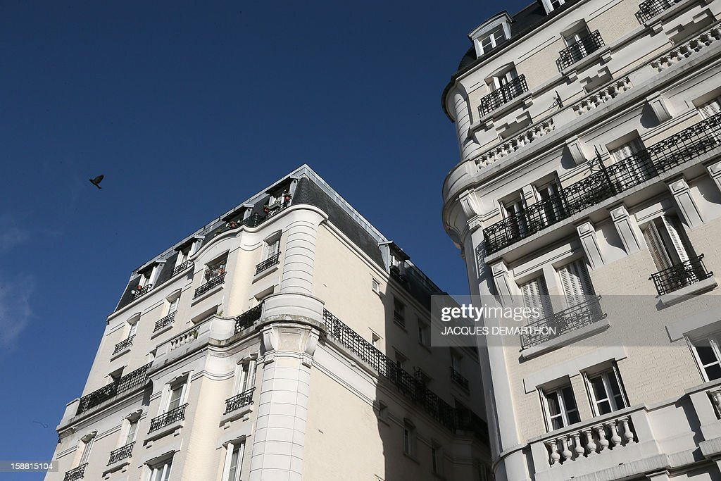 A picture taken on December 30, 2012 shows residential buildings in Paris. AFP PHOTO/JACQUES DEMARTHON