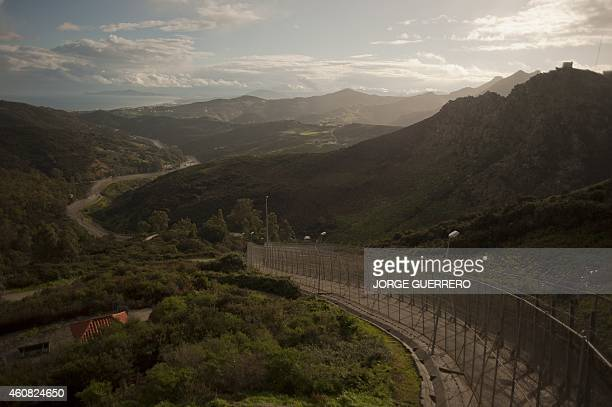 A picture taken on December 4 2014 shows the Ceuta border with Morocco Thousands are risking their lives to enter Europe through the Spanish enclaves...