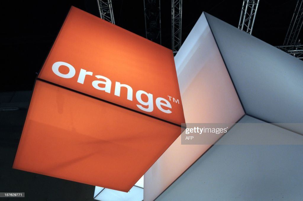 A picture taken on December 5, 2012 shows the logo of French telecom group Orange-France Telecom displayed at LeWeb Paris 2012 in Saint-Denis, near Paris.