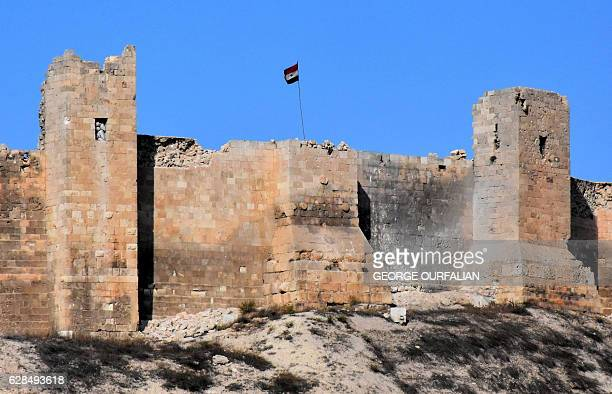 A picture taken on December 8 shows Aleppo's historic citadel after Syrian progovernment forces retook the Old City from rebel fighters President...