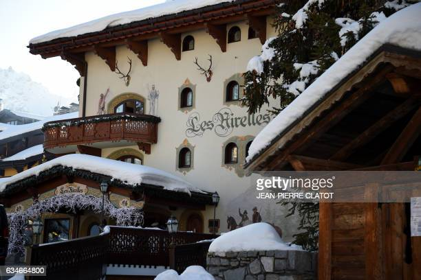 A picture taken on February 10 shows the fourstar palace hotel 'Les Airelles' with the twostar restaurant run by chef Pierre Gagnaire in the French...