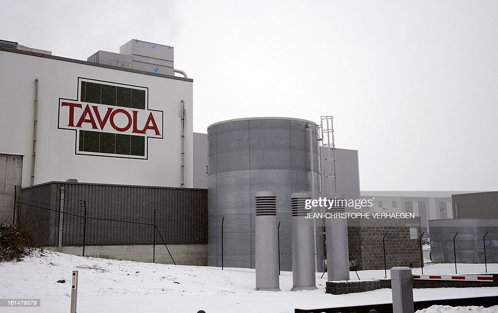 A picture taken on February 11, 2013 in Capellen shows a facade of the Tavola plant, a subsidiary of Comigel which supplies frozen meals to supermarket chains and other clients to around 15 countries. The French food company Comigel which supplied frozen lasagne to British supermarkets found to contain up to 100 percent horsemeat, today shut down its website and declined to answer media enquiries. It risks being subject to large fines as a result of the scandal, even if it is discovered that the alleged fraud has been committed by its suppliers.AFP PHOTO / JEAN-CHRISTOPHE VERHAEGEN