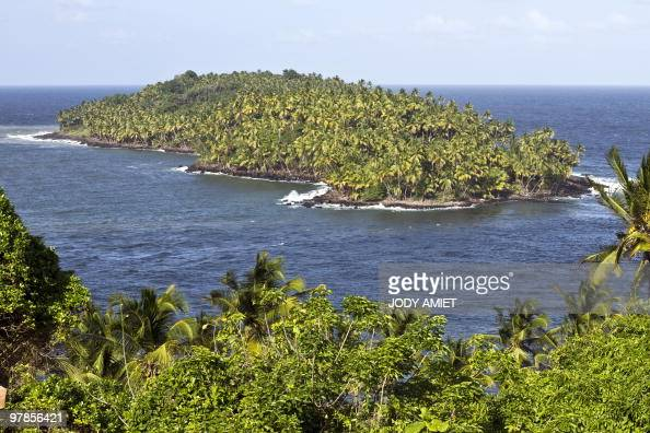 Picture taken on February 12 2010 from the Royal Island the largest of the Islands of Salvation in the Caribbean Sea off French Guiana about 10 miles...
