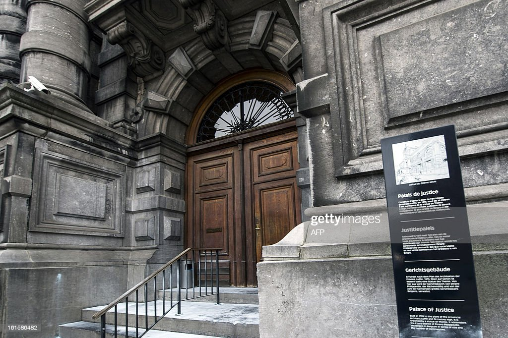 Picture taken on February 12, 2013 shows the courthouse in Dinant during abbot Marcel Colignon's trial. The trial of Colignon , who is suspected of child abuse was postponed due to his health .