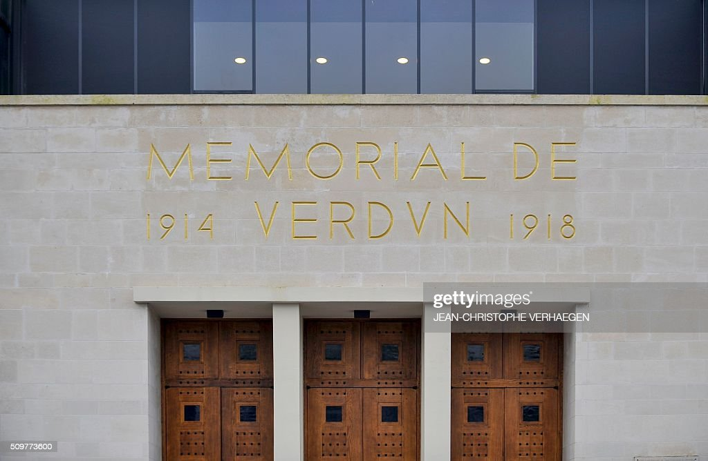A picture taken on February 12, 2016 in Fleury-devant-Douaumont, eastern France shows the redesigned Memorial of Verdun who commemorate the 1916 Battle of Verdun, the memorial will reopen on February 22, 2016. / AFP / JEAN-CHRISTOPHE VERHAEGEN