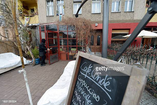 Picture taken on February 14 2013 shows an exterior view of the former 'Exil' restaurant at PaulLinckeUfer 44a in Berlin that was the favorite...