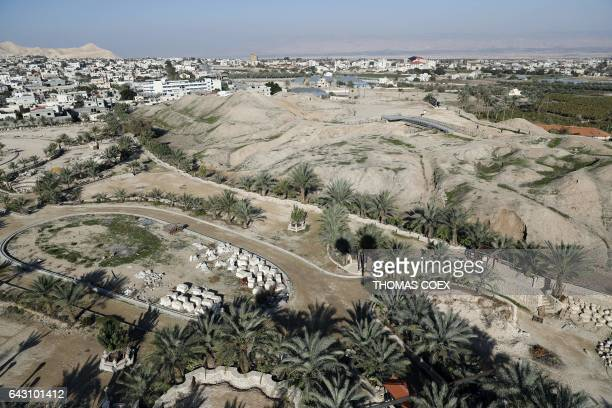 A picture taken on February 18 2017 shows a part of the West Bank city of Jericho / AFP / THOMAS COEX