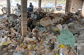 A picture taken on February 1st in Yaounde shows piles of plastic waste Cameroonian football hero Roger Milla the oldest goalscorer in World Cup...