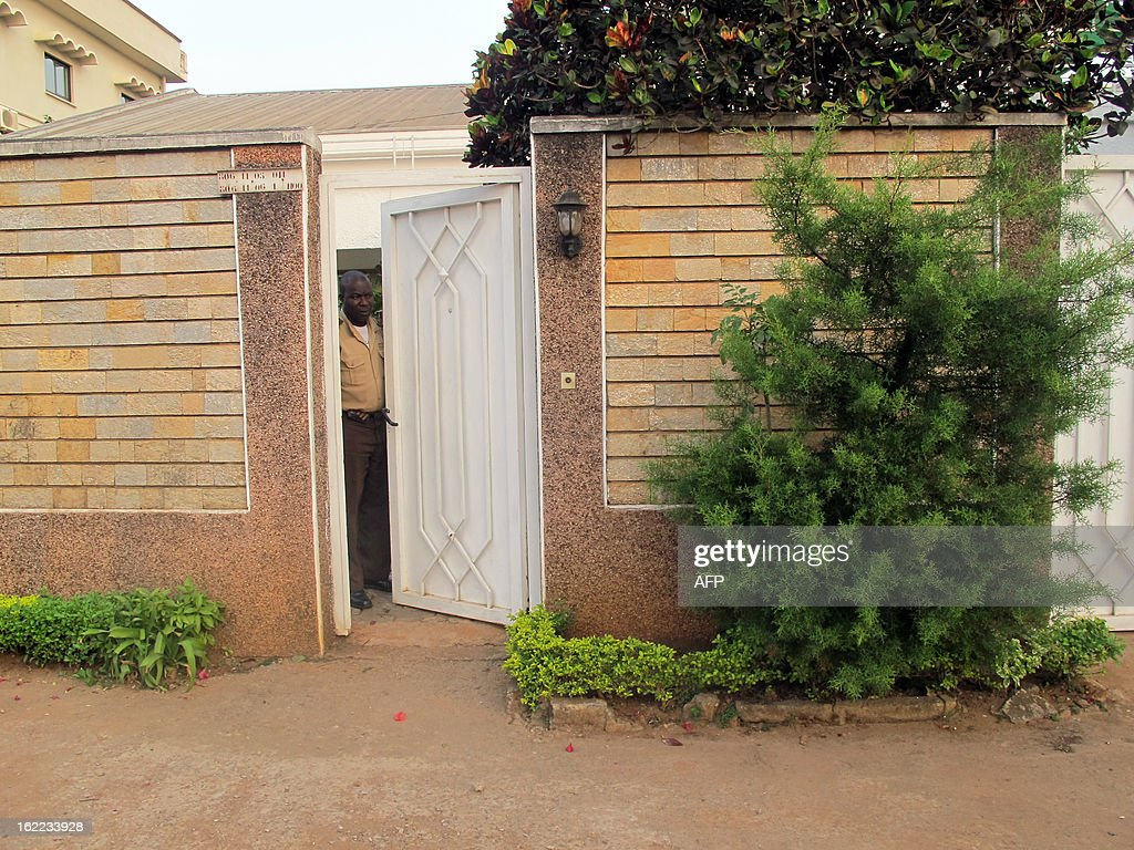 A picture taken on February 21, 2013 in the Bastos district of the Cameroonian capital Yaounde shows a house where live seven members of a French family who were seized in a kidnapping allegedly carried out by Nigerian Islamist group Boko Haram. French hostages seized in Cameroon are freed, according to a military source on February 21. The family -- a couple, their children aged five, eight, 10 and 12 and an uncle -- were snatched in northern Cameroon by six gunmen on three motorbikes on February 19 and officials said they had been taken across the border into Nigeria. AFP PHOTO / REINNIER KAZE