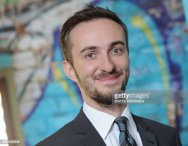 Picture taken on February 22 2012 in Berlin shows German comedian Jan Boehmermann Germany said on April 11 2016 it was reviewing a formal request...