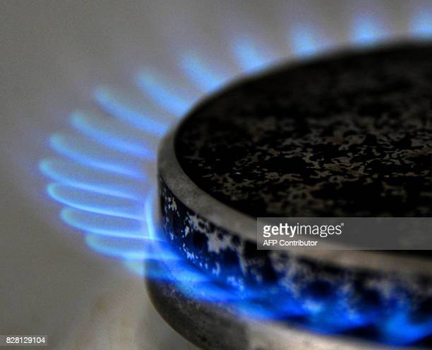 A picture taken on February 23 2011 in Lille northern France shows a gas burner Gas prices in France should increase of 5% on April 1 2011 AFP PHOTO...