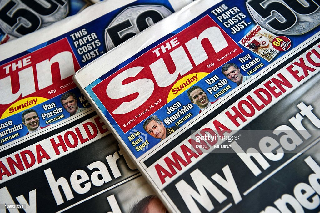 A picture taken on February 26, 2012 in London, shows front pages of today's edition of the new British Newspaper 'The Sun on Sunday.' Rupert Murdoch's Sun on Sunday tabloid rolled off the presses for the first time, with a pledge that the paper replacing the scandal-hit News of the World would abide by ethical standards.