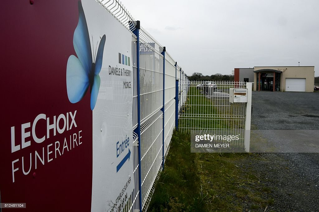 A picture taken on February 26 2016 shows the funeral parlour company Morice in EtablessurMer western France SaintBrieuc's prosecutor has opened a...
