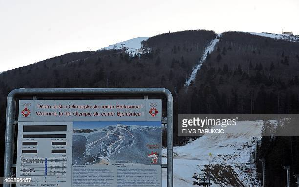 SMAJILHODZIC A picture taken on February 5 2014 shows Sarajevo's alpine skiing slopes at Mt Bjelasnica near Sarajevo Built and used as an Olympic...