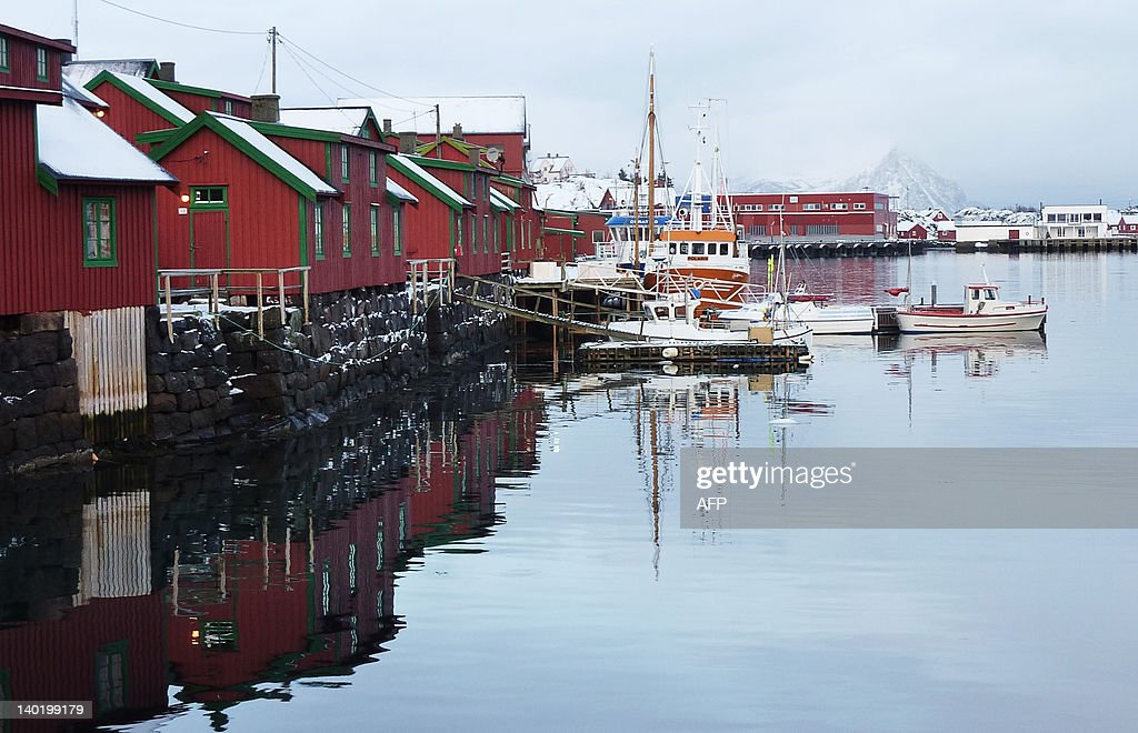 A picture taken on February 7 2012 shows a small fishing village in Norway's Arctic archipelago Lofoten Looking for oil outside your front door may...