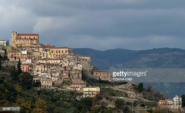 A picture taken on January 11 2016 shows the small village of Sellia in southern Italys Calabria region / AFP / TIZIANA FABI