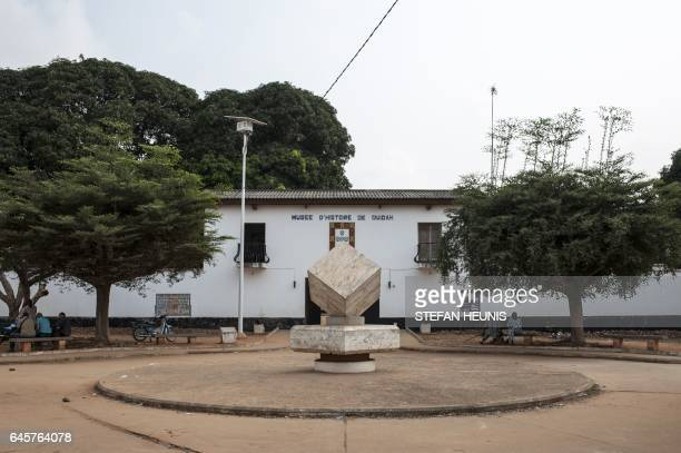 A picture taken on January 11 2017 shows the Museum of History of the small coastal town of Ouidah some 40km from Benin's capital Cotonou With its...