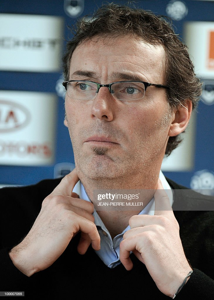 Picture taken on January 15, 2010 of Bordeaux' coach Laurent Blanc attending a press conference in Le Haillan, southwestern France. The French football federation (FFF) have reached agreement with Bordeaux with a view to the recruitment of Laurent Blanc as coach of the national team, the first division club said in a statement on May 20, 2010.