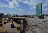A picture taken on January 15 2014 shows part of the Addis Ababa light railway under construction in Addis Ababa The Addis Ababa Light Railway system...