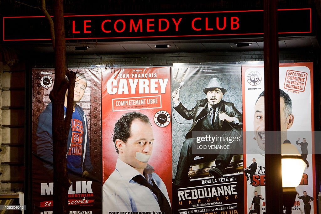 A picture taken on January 18 2011 in Paris shows the facade of Comedy Club theater AFP PHOTO LOIC VENANCE